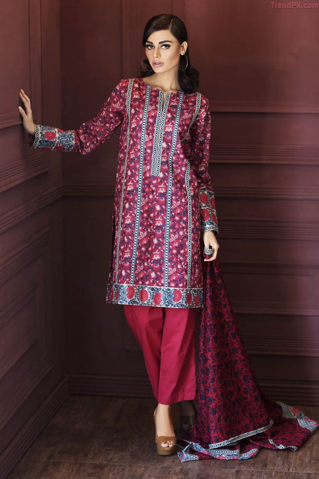 Trends 2017 health - Khaadi Unstitched Winter 2015 Collection 5