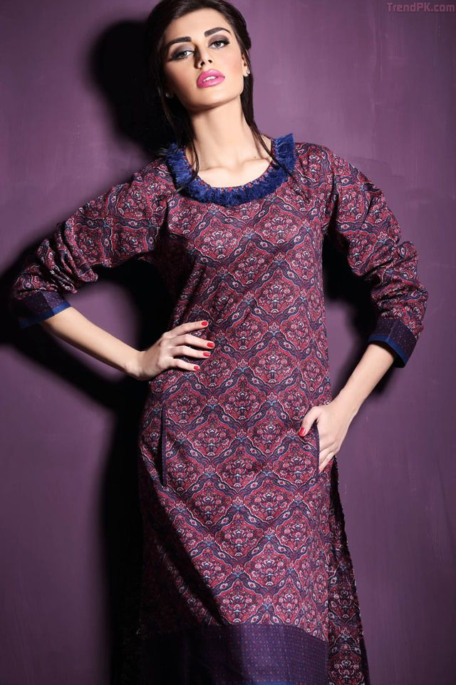 Spring summer 2017 fashion trends - Khaadi Unstitched Winter 2015 Collection 8