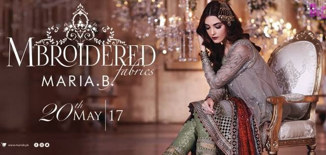 5f34a92ee9 MARIA B MBroidered Eid Collection 2017 Embroidered Unstitched - Eid ...